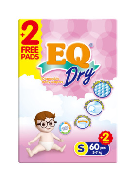 EQ Diapers and Wipes Dry Jumbo Pack Tape Diaper Small (60 pcs)