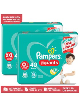 Pampers Baby Dry Pants Super Jumbo XXL 2-Pack (2 x 40pcs)- Subscription