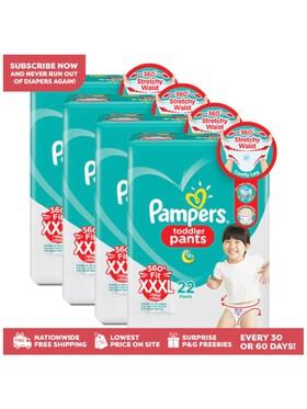 Pampers Baby Dry Pants XXXL Bundle (4 x 22 pcs) - Subscription