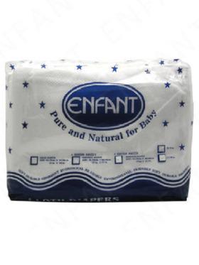 "Enfant Baby Lampin Cloth Birdseye Diaper 18"" x 27"" (12-Pack)"