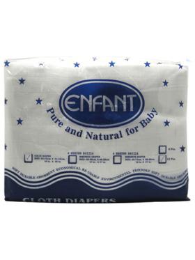 Enfant Baby Lampin Cloth Gauze Diaper (12-Pack)