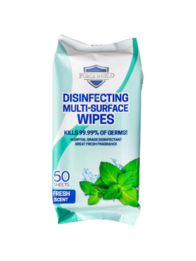 Forceshield Fresh Scent Disinfecting Multi-Surface Wipes (50s)