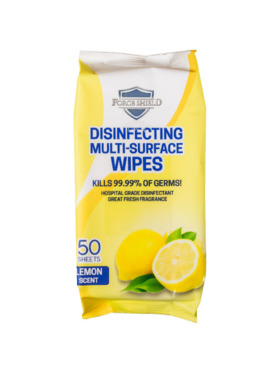 Forceshield Lemon Scent Disinfecting Multi-Surface Wipes (50s)