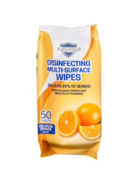 Forceshield Valencia Orange Scent Disinfecting Multi-Surface Wipes (50s)
