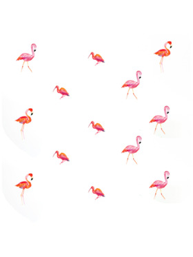 Baboo Basix Feather Them Pink Peel and Stick DIY Wall Decals