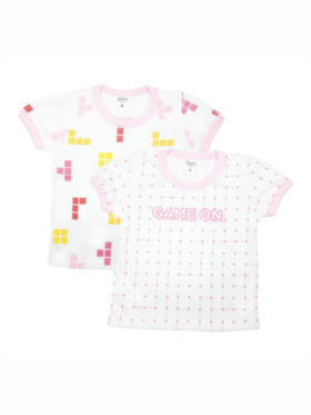 Looms Game On Collection Girls T-Shirt (2pcs)