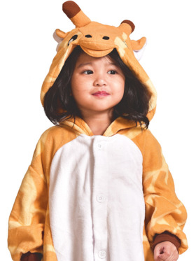 Happy Hoodies Giraffe Onesie for Toddlers