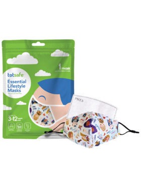 Totsafe Lifestyle Mask - Girls Rule Set (with 3 filters)