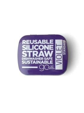 GoSili Reusable Standard Silicone Straw with Travel Tin Case