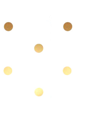 Baboo Basix Gold Dots Peel and Stick DIY Wall Decals