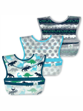 Green Sprouts Dinosaurs Snap and Go Wipe-Off Bibs (3-Pack)