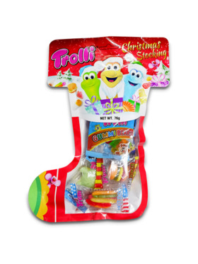 Trolli Gummy Candy Christmas Stocking 76g (4-Pack)