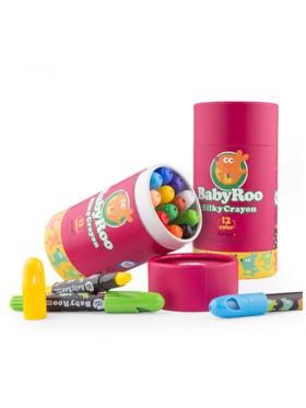 Joan Miro Silky Washable Crayons - Baby Roo (12 Colors)