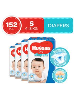 Huggies Dry Diapers Small (38s) Bundle of 4