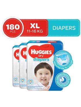 Huggies Dry Diapers XL (60s) Bundle of 3