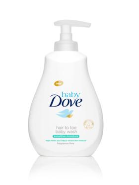 Baby Dove Hair To Toe Wash Sensitive Moisture (400ml)