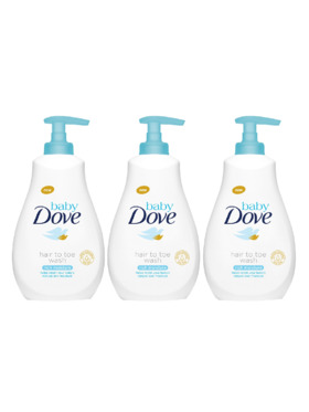 Baby Dove Hair to Toe Wash Rich Moisture (591ml) Bundle of 3