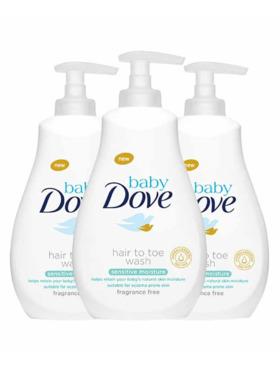 Baby Dove Hair To Toe Wash Sensitive Moisture 591ml (Bundle of 3)