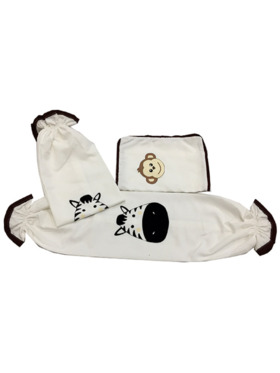 Kozy Blankie Happy Zoo Pillow Case and Bolster Case