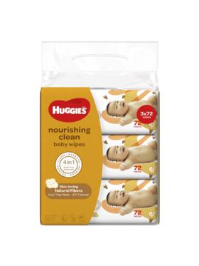 Huggies Nourishing Clean Baby Wipes Bundle of 3