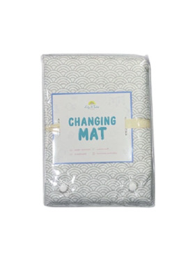Lily and Tucker Gray Clouds Diaper Changing Pad (70x100cm)