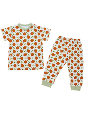 Bamberry Baby Patterned Short Sleeves PJ Set
