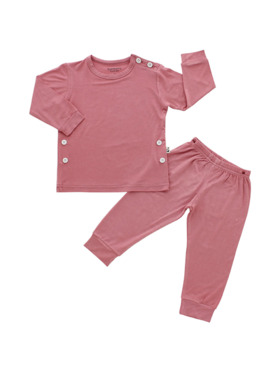 Bamberry Baby Plain Long Sleeves PJ Set