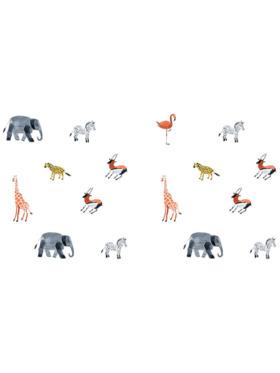 Juju Nursery Watercolor Animals Wall Decals Nursery Stickers