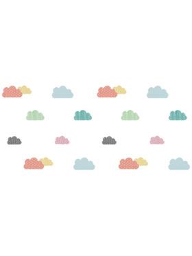 Juju Nursery Colorful Clouds Wall Decals Nursery Stickers