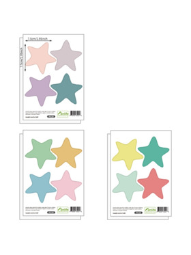 Juju Nursery Colorful Stars Wall Decals Nursery Stickers