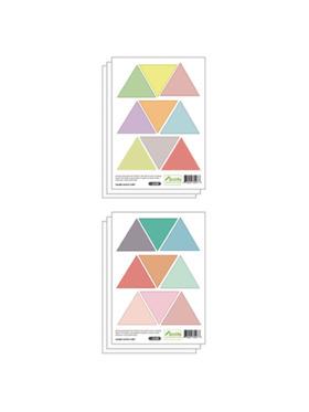 Juju Nursery Colorful Triangles Wall Decals Nursery Stickers