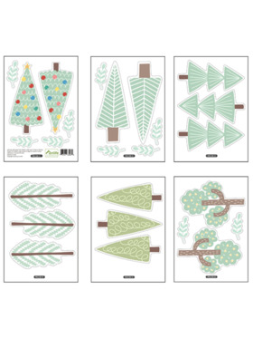 Juju Nursery Forest Trees Wall Decals Nursery Stickers