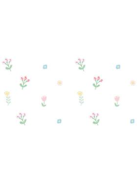 Juju Nursery Pastel Flowers Wall Decals Nursery Stickers