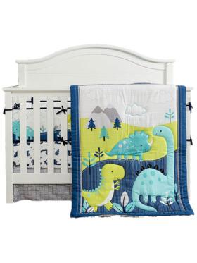 Juju Nursery Dinosaur Land 7-Piece Crib Bedding Set