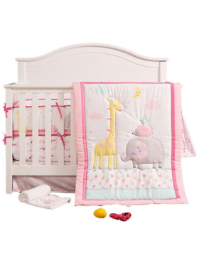 Juju Nursery Too Tall Giraffe 7-Piece Crib Bedding Set