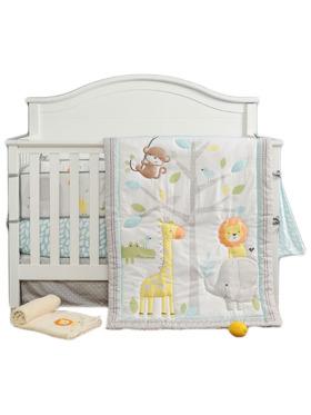 Juju Nursery Safari Yearbook 7-Piece Crib Bedding Set