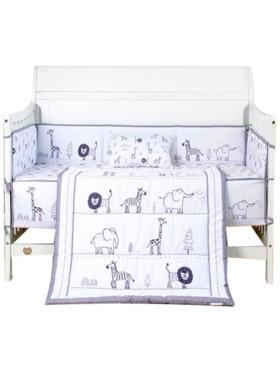 Juju Nursery Animal Parade 7-Piece Cotton Bedding Set