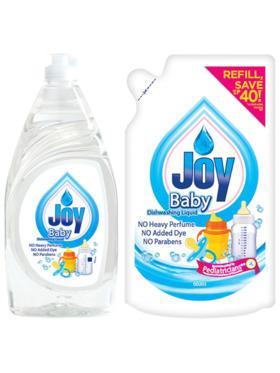 Joy Baby Bottle Wash (790ml) + Refill (600ml)