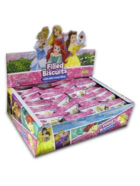 Juju Disney Princess Filled Biscuit with Milk Cream Filling (26g x 24)