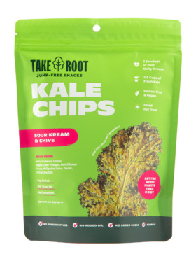 Take Root Sour Kream & Chive Kale Chips (60g)