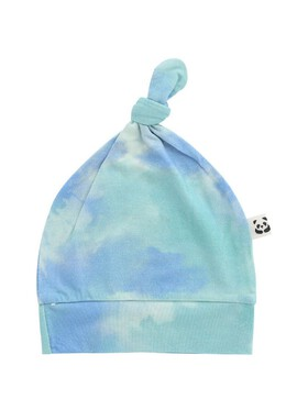 Bamberry Baby Crumple Tie Dye Knotted Hat