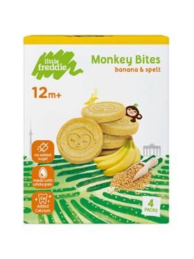 Little Freddie Monkey Banana & Spelt Bites