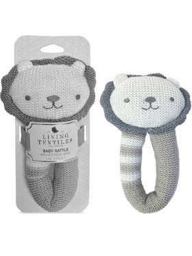 Living Textiles Knitted Rattle – Austin Lion