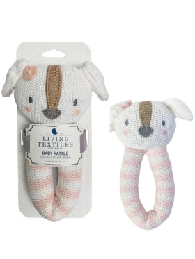 Living Textiles Knitted Rattle – Ms. Rory Puppy