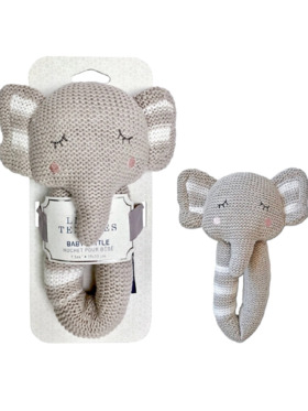 Living Textiles Knitted Rattle – Theodore Elephant