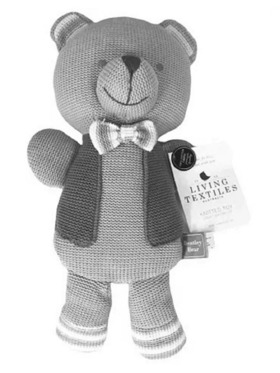 Living Textiles Knitted Toy – Bentley Bear