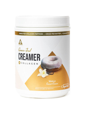 Level Up Nutra Vanilla Sweet Cream Grass Fed Keto Creamer with Collagen (30 Servings)