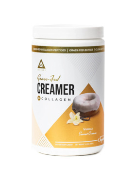 Level Up Nutra Vanilla Sweet Cream Grass Fed Keto Creamer with Collagen (15 Servings)