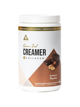 Level Up Nutra Chocolate Hazelnut Grass Fed Keto Creamer with Collagen (15 Servings)