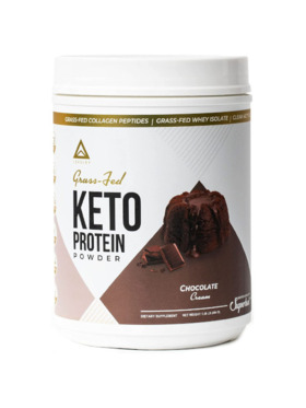 Level Up Nutra Chocolate Cream Grass Fed Keto Protein with Collagen (24 Servings)
